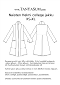 Women's Helmi college jacketpaperpatterns