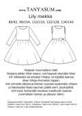 Girls Lily dress paperpatterns, round neckline