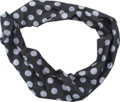 Tube scarf, black with grey balls jersey