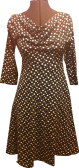 Black with white dots jersey dress with big pockets