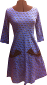 Bow pocket dress from blue spiders jersey