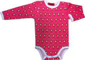 Pink bears body from organic cotton, 50-86cm