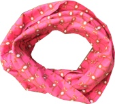 Tube scarf, pink bears jersey