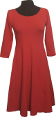 Red dress with big hidden pockets and 3/4 sleeves