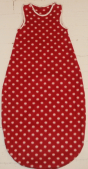 Red and white dots baby sleeping bag