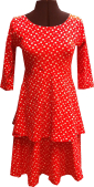 Red with white dots pocket dress
