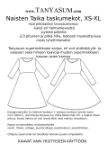 Taika pocket dress paperpatterns, round neckline