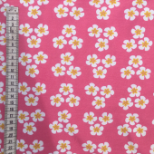 Baby pink flower organic cotton jersey